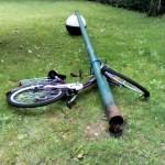 Laterne mit Fahrrad