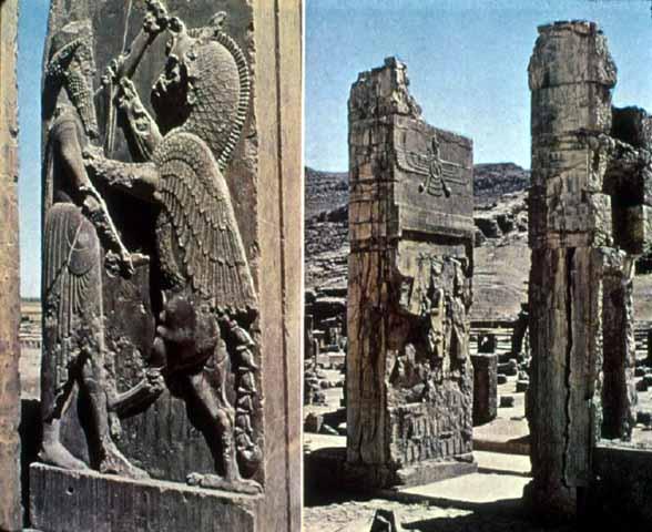 Reste des Palastes von Darius