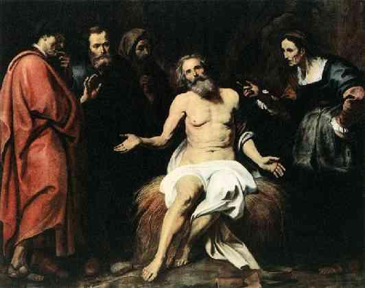 Gerard Seghers, (1591-1651), Der leidende Hiob/Hiob und die Freunde und seine Frau
